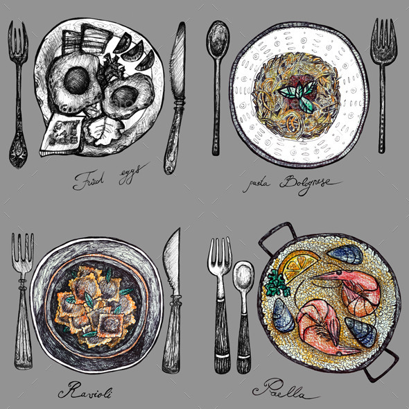 GraphicRiver Food on a plate 10922972