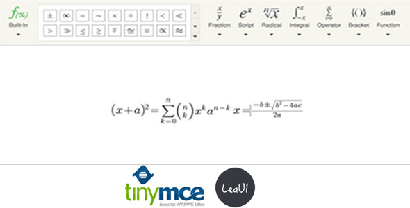 CodeCanyon TinyMCE4 Formula Editor 10917683
