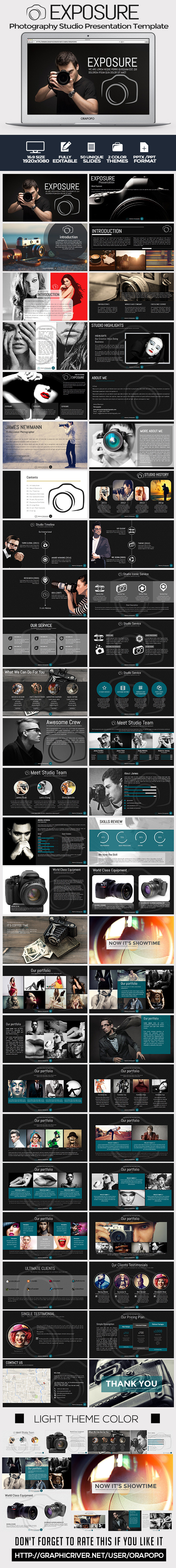 GraphicRiver Exposure Photography Studio Presentation Template 10923083
