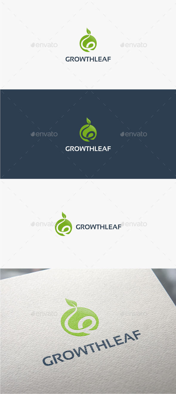 GraphicRiver Growth Leaf Logo Template 10923262