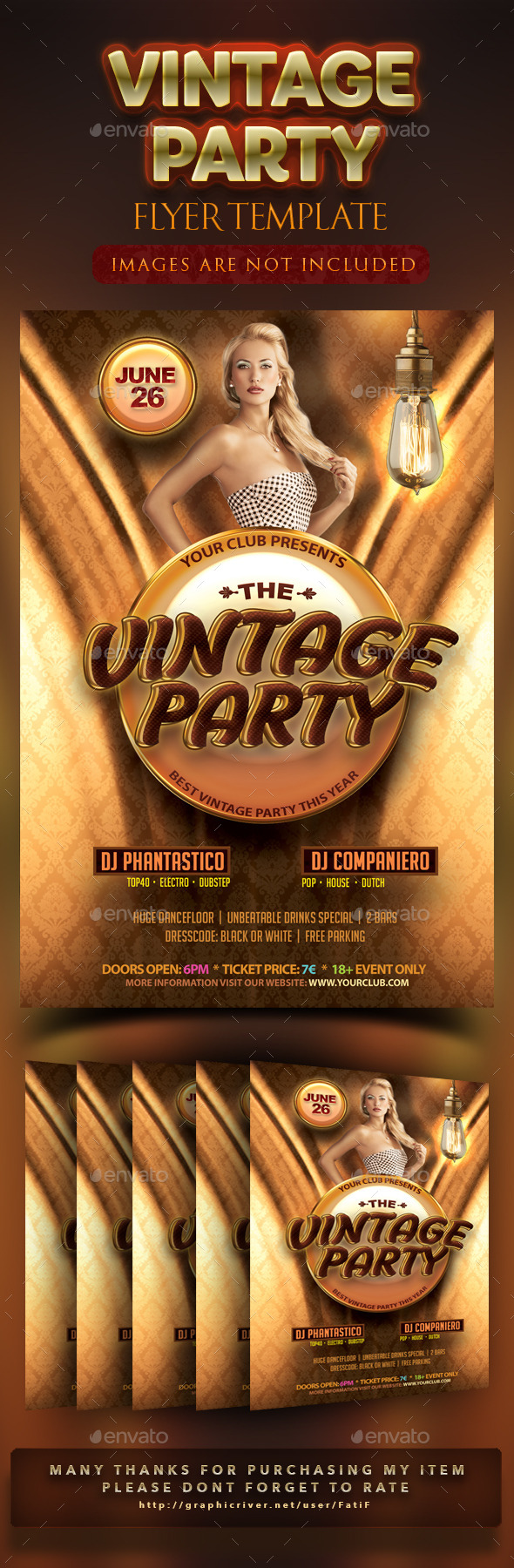 GraphicRiver Vintage Party Flyer Template 10923265