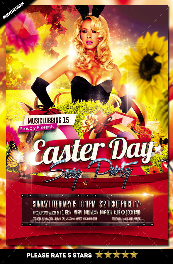 Easter Day Party Flyer