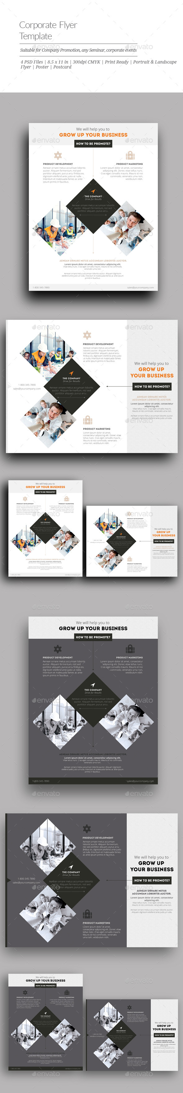 GraphicRiver Corporate Flyer Templates 10923506