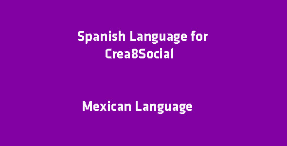 CodeCanyon Spanish Language for Crea8Social 10869752
