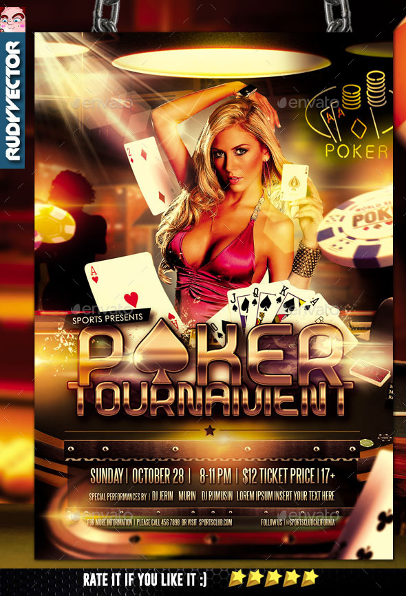 GraphicRiver Poker Tournament Flyer Design 10923587