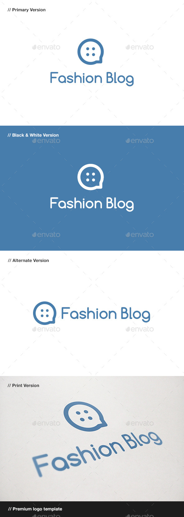 GraphicRiver Fashion Blog Logo 10923598