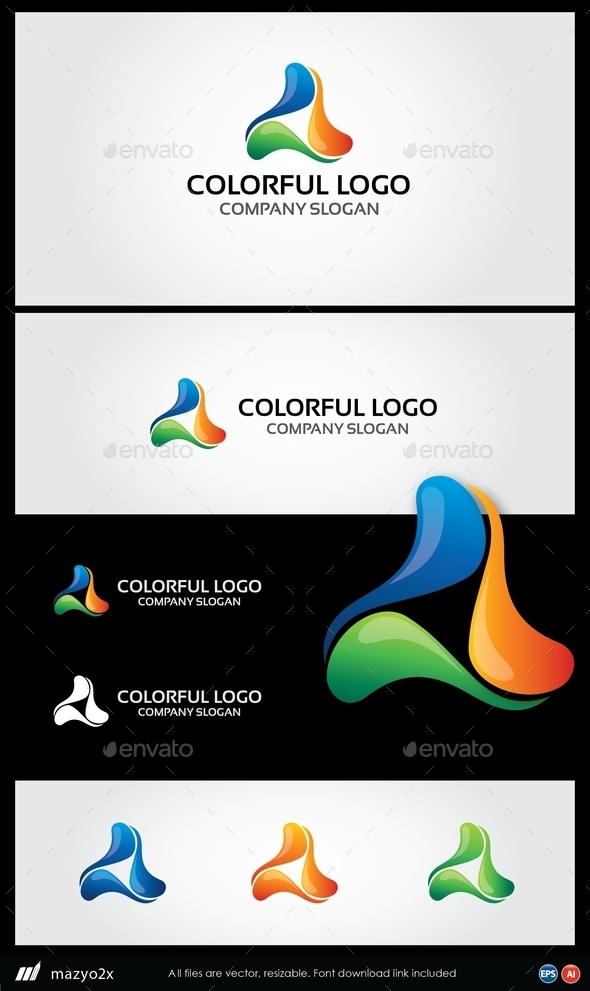 GraphicRiver Abstract 3D Colorful Logo 10923672