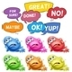 Monsters and Speech Bubbles  - GraphicRiver Item for Sale