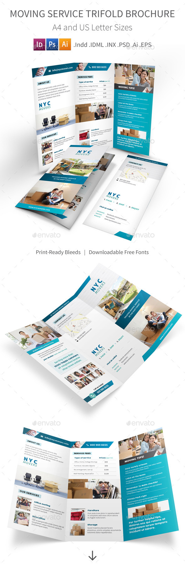 GraphicRiver Moving Service Trifold Brochure 10923965