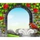 Stonewall with Roses and Bird  - GraphicRiver Item for Sale