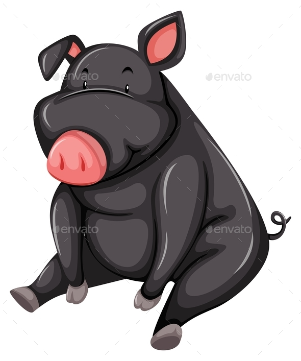 GraphicRiver Gray Pig 10924170