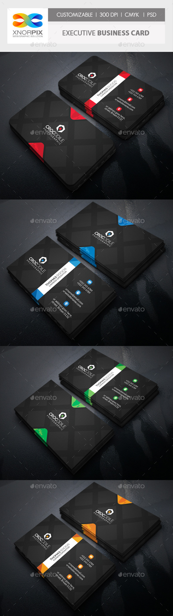 GraphicRiver Executive Business Card 10924240