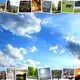 motley pictures on the blue sky background - PhotoDune Item for Sale
