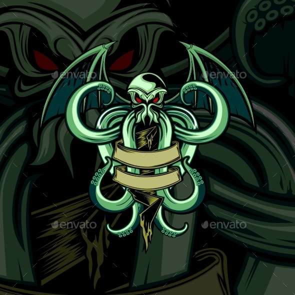 GraphicRiver Kraken with Wings 10869178