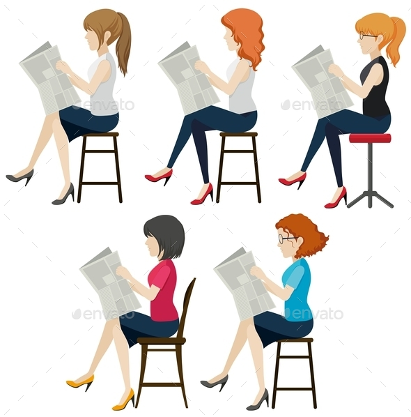 GraphicRiver Women Reading 10924355
