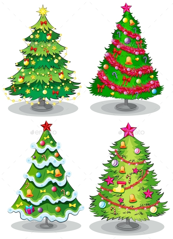 GraphicRiver Christmas Trees 10924422