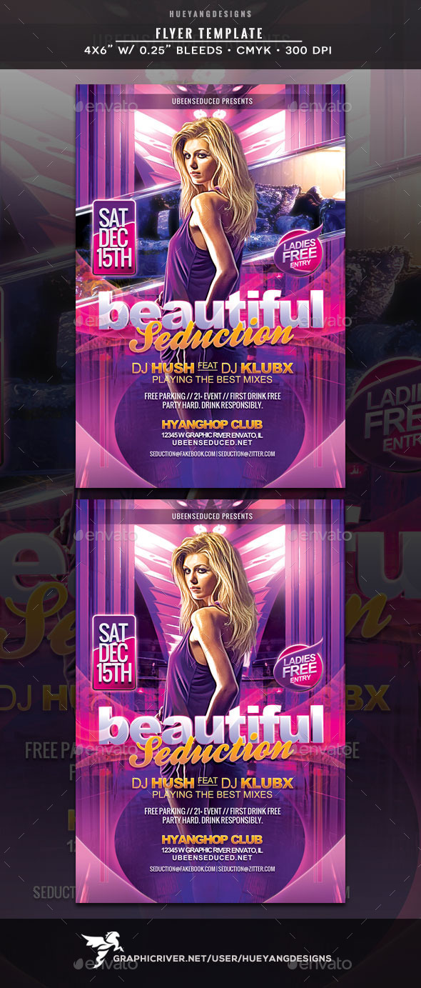 Beautiful Seduction Flyer - Clubs & Parties Events