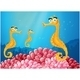 Sea Horses Near Pink Coral Reefs - GraphicRiver Item for Sale