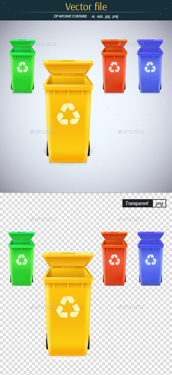 GraphicRiver Ecological Trashcan 10924534