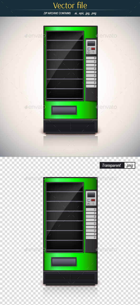 GraphicRiver Green Vending Machine 10924548