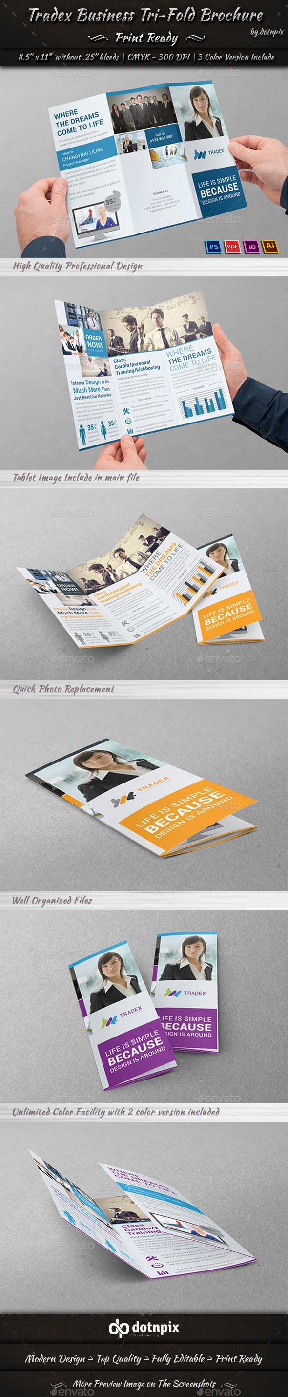 GraphicRiver Tradex Business Tri-fold 10924581