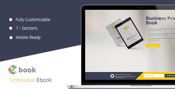 ThemeForest Ebook Unbounce Template 10892625