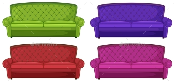 GraphicRiver Four Colorful Sofas 10924713