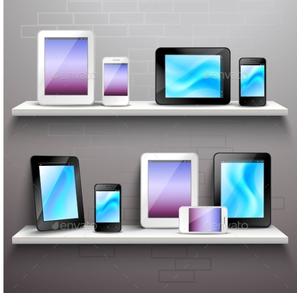 GraphicRiver Devices On Shelves 10924805