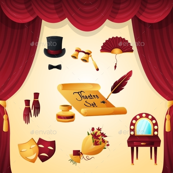 GraphicRiver Theater Elements Set 10924809