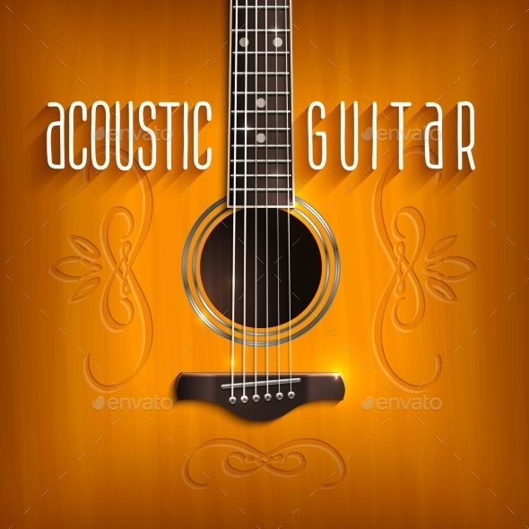 GraphicRiver Acoustic Guitar Background 10924824