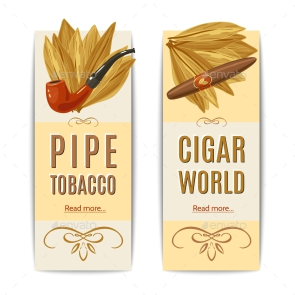 GraphicRiver Tobacco Banners Set 10924827