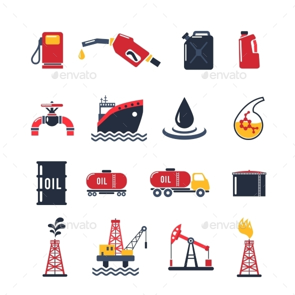 GraphicRiver Petroleum Industry Icon Set 10924829