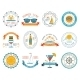 Summer Vacation Emblem Stickers - GraphicRiver Item for Sale