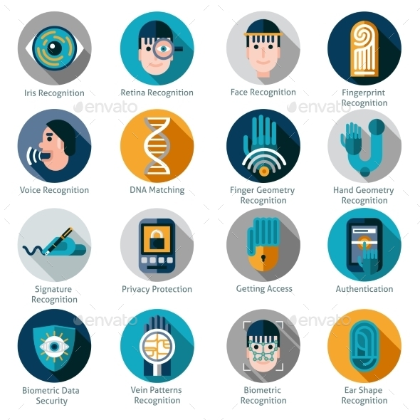 GraphicRiver Biometric Authentication Icons 10924844