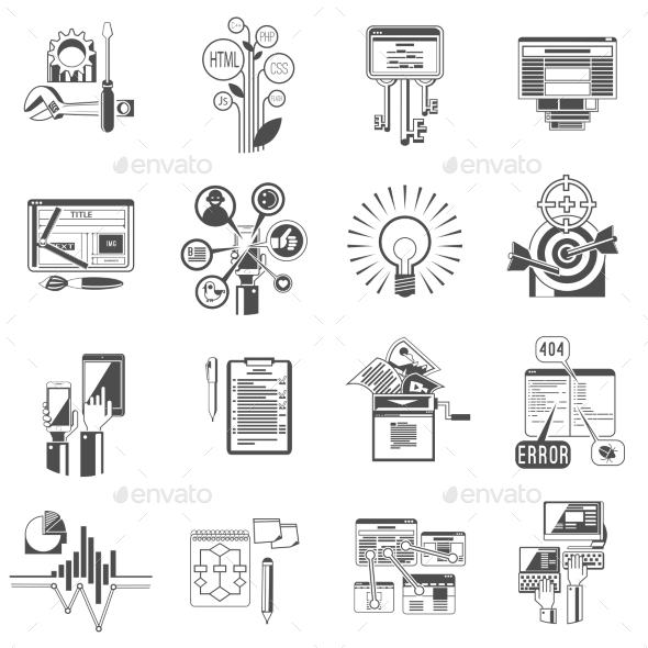 GraphicRiver SEO Icons Set 10924869