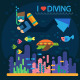 Diving - GraphicRiver Item for Sale