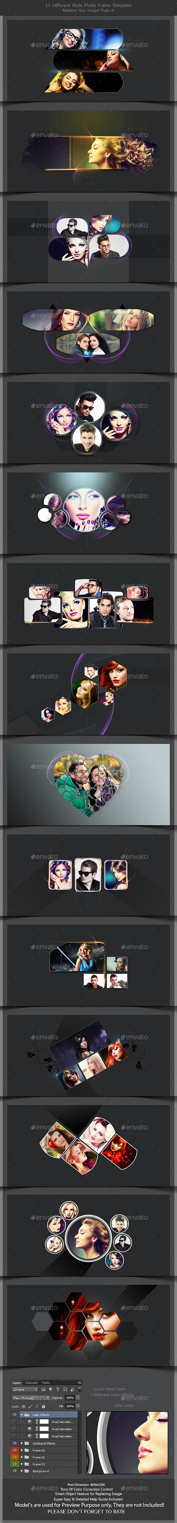 GraphicRiver 15 Different Styles Photo Frame Template 10925154