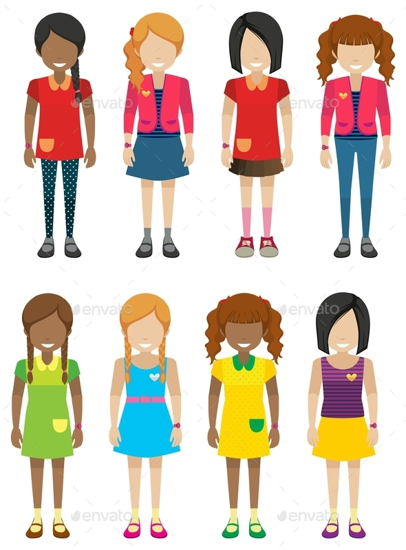 GraphicRiver Faceless Girls Without Faces 10925158