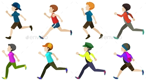 GraphicRiver Boys Running 10925169