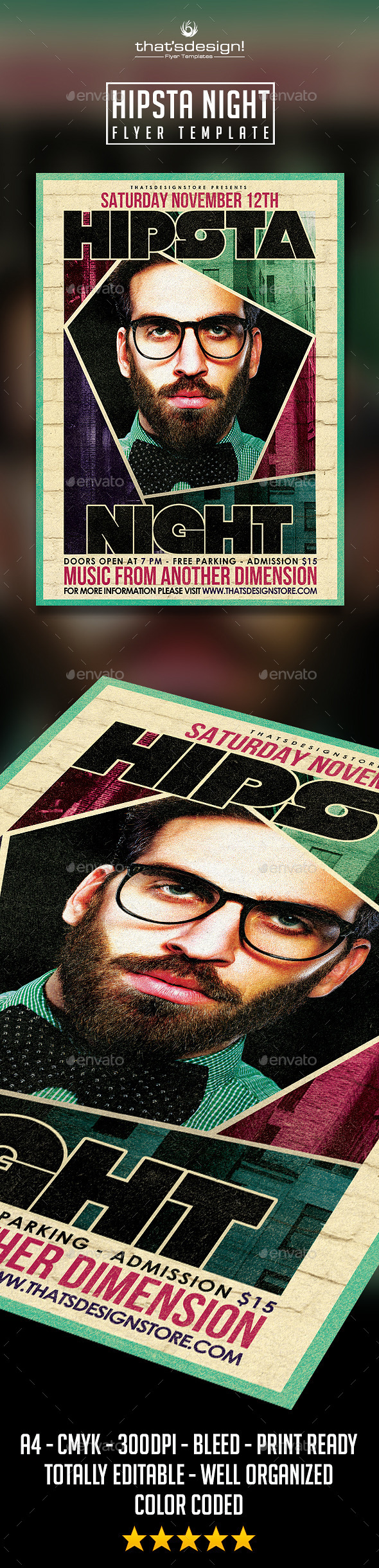 GraphicRiver Hipsta Night Flyer Poster Template 10925203