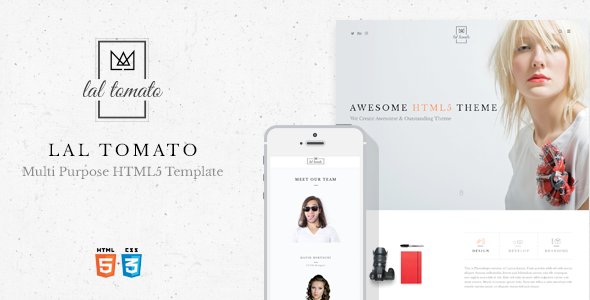 ThemeForest Lal Tomato Multi-purpose HTML5 Template 10857026