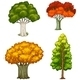 Four Trees with Different Colors - GraphicRiver Item for Sale