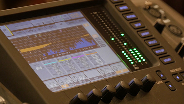 Video Interface Of Audio Digital Mixing Console