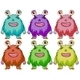 Six Colourful Monsters - GraphicRiver Item for Sale
