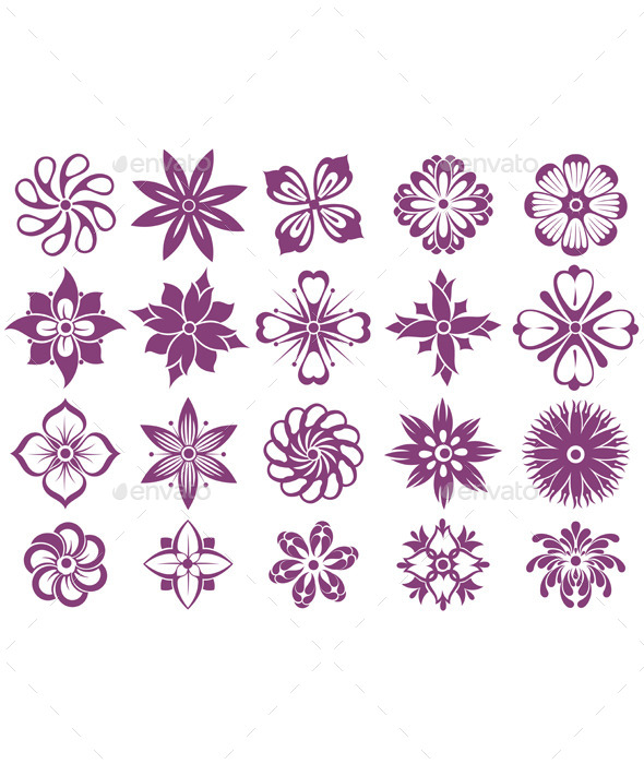GraphicRiver Set of Flowers 10925450