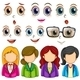 Expressions and Faces - GraphicRiver Item for Sale