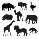 Wild African Animals Black - GraphicRiver Item for Sale