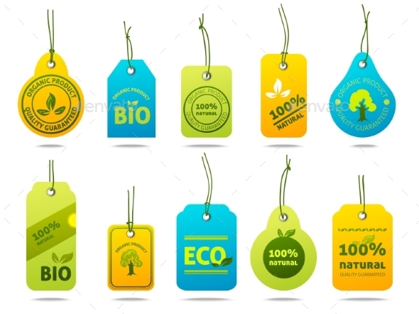 GraphicRiver Ecology Cardboard Labels 10925595
