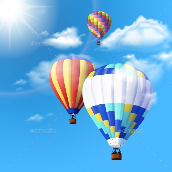 GraphicRiver Air Balloon Background 10925619