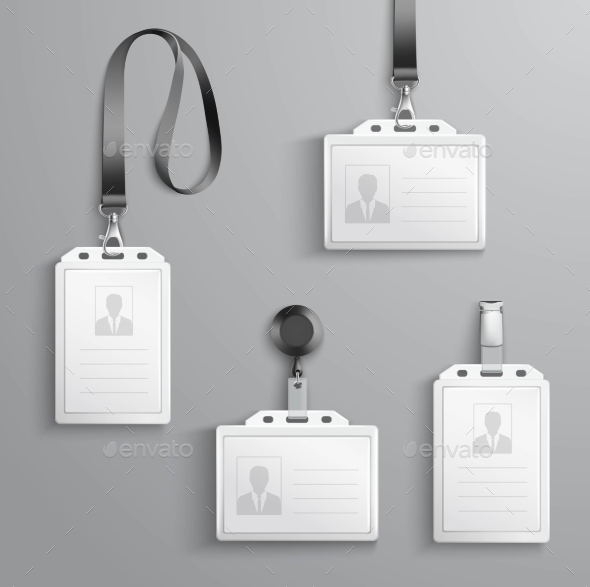 GraphicRiver Identification Cards Set 10925634